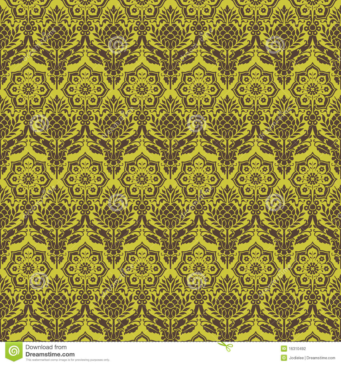 Green and white floral pattern - photo#45