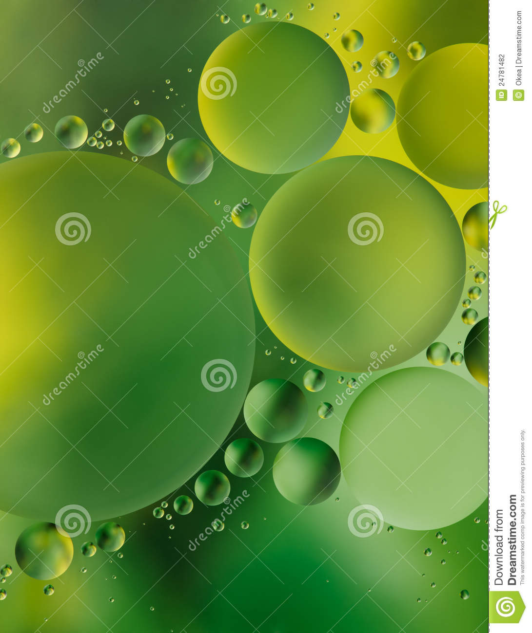 Green bubble background