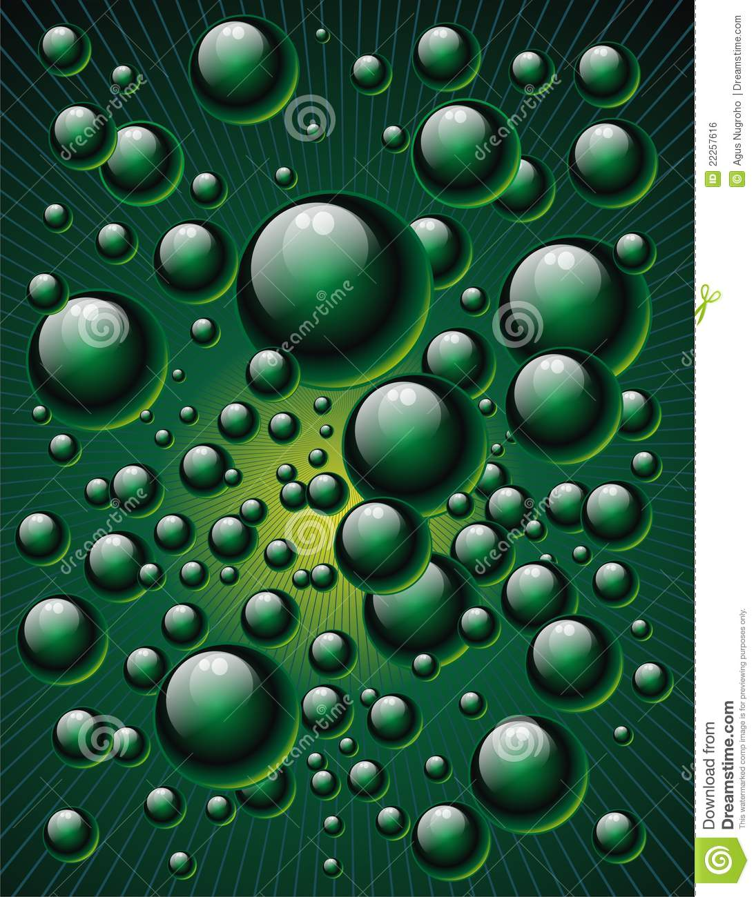 Green Bubbles Royalty Free Stock Image - Image: 22257616