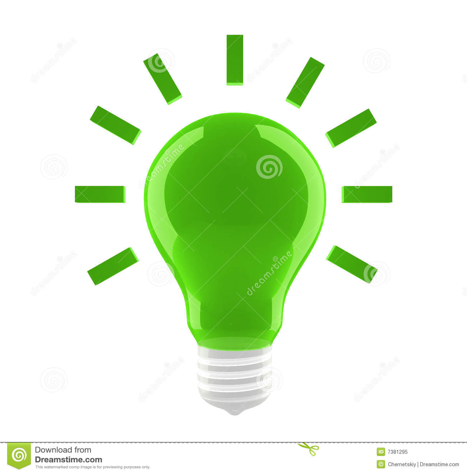 Green Bulb Icon Royalty Free Stock Photo Image 7381295