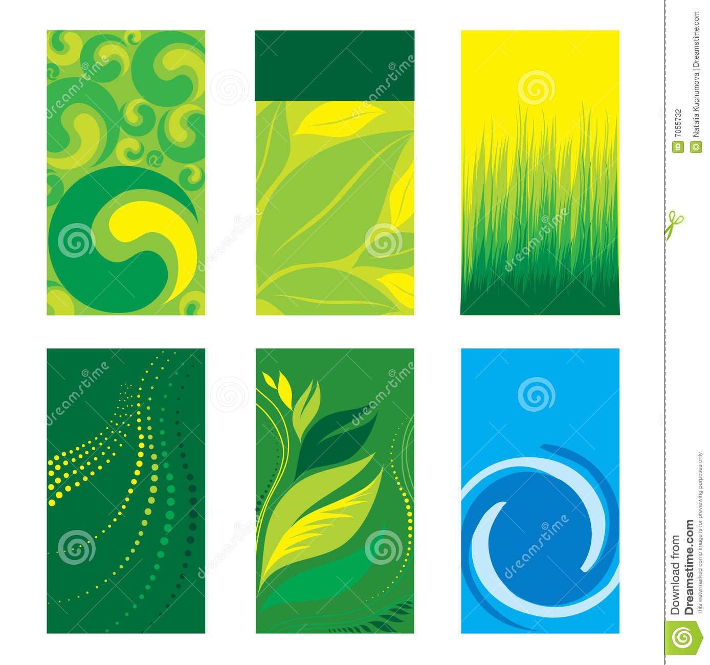 Stock Photography Green Business Cards Image