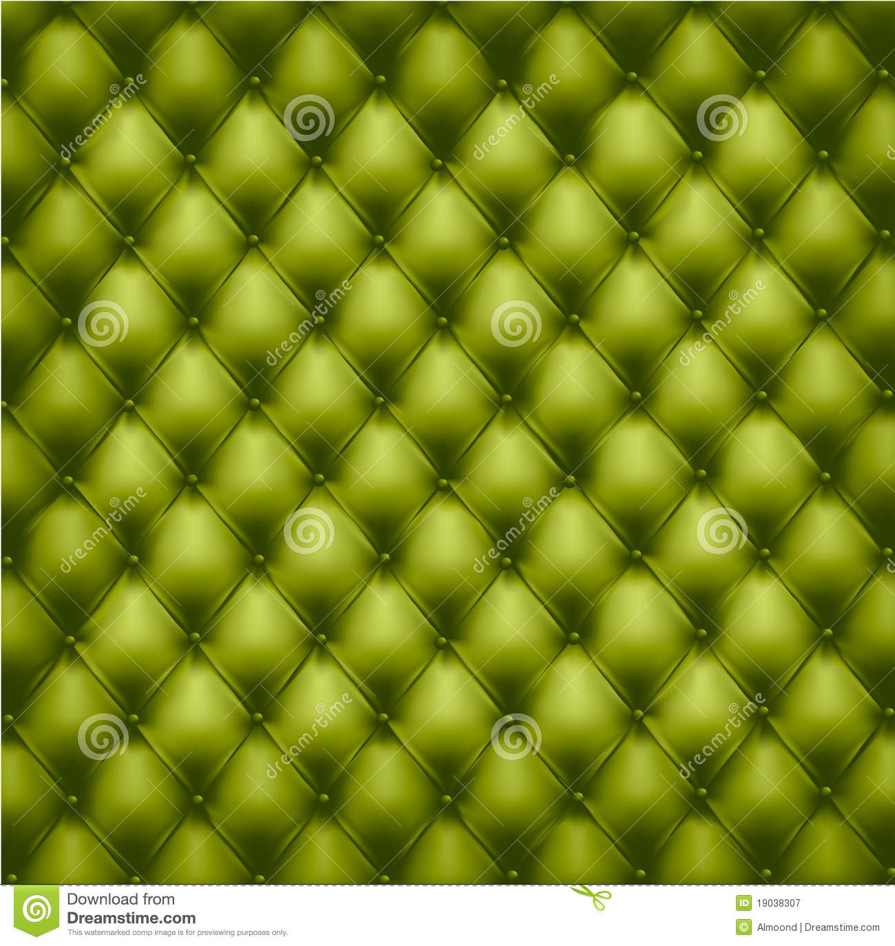 Green Button Tufted Leather Background Royalty Free Stock