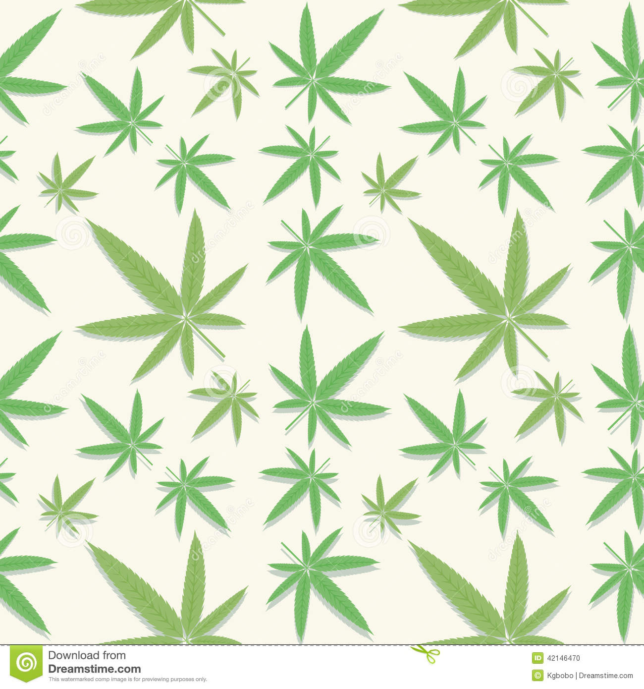 weed leaf template - green cannabis leaves pattern stock vector image 42146470