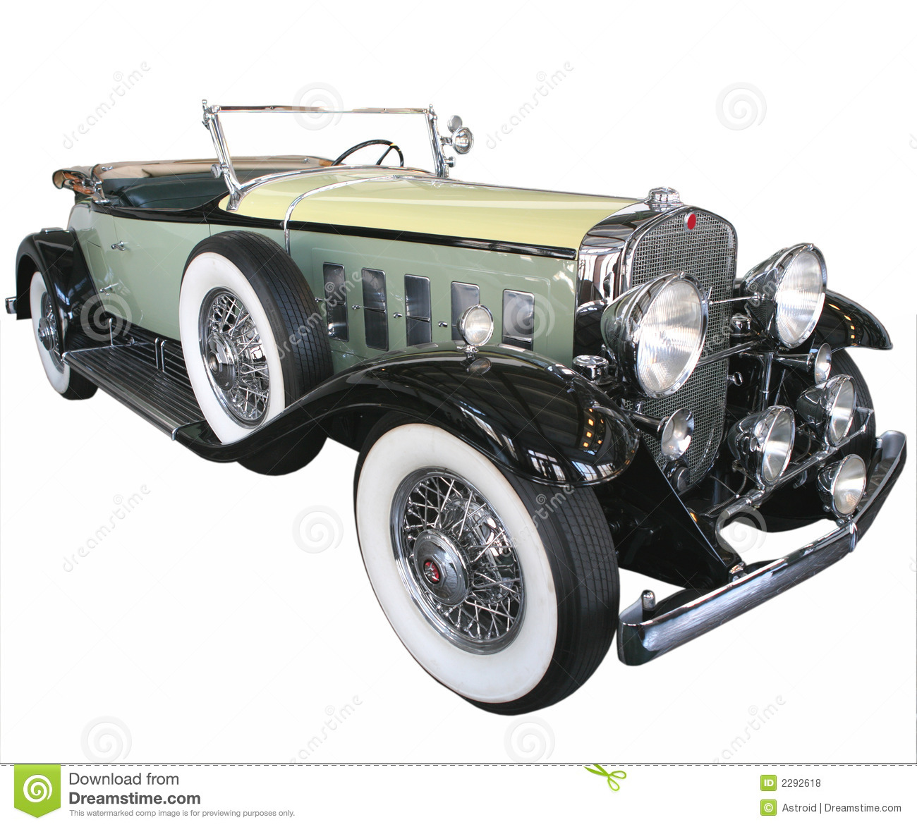 Green Car from 1920\'s stock photo. Image of wheel, classic - 2292618