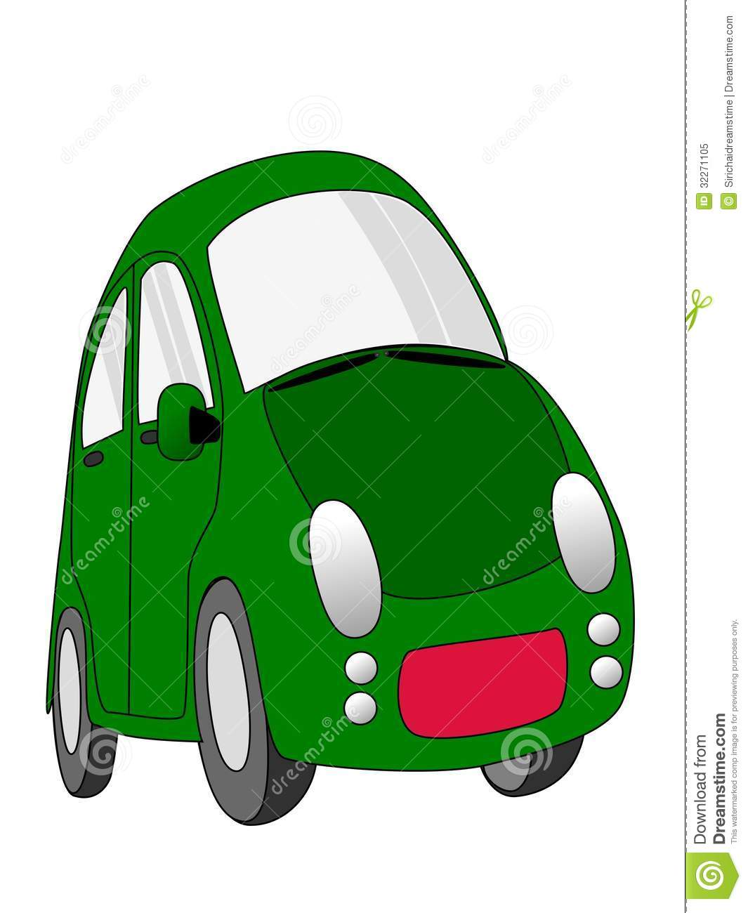 Green Car Cartoon Stock Illustration Illustration Of