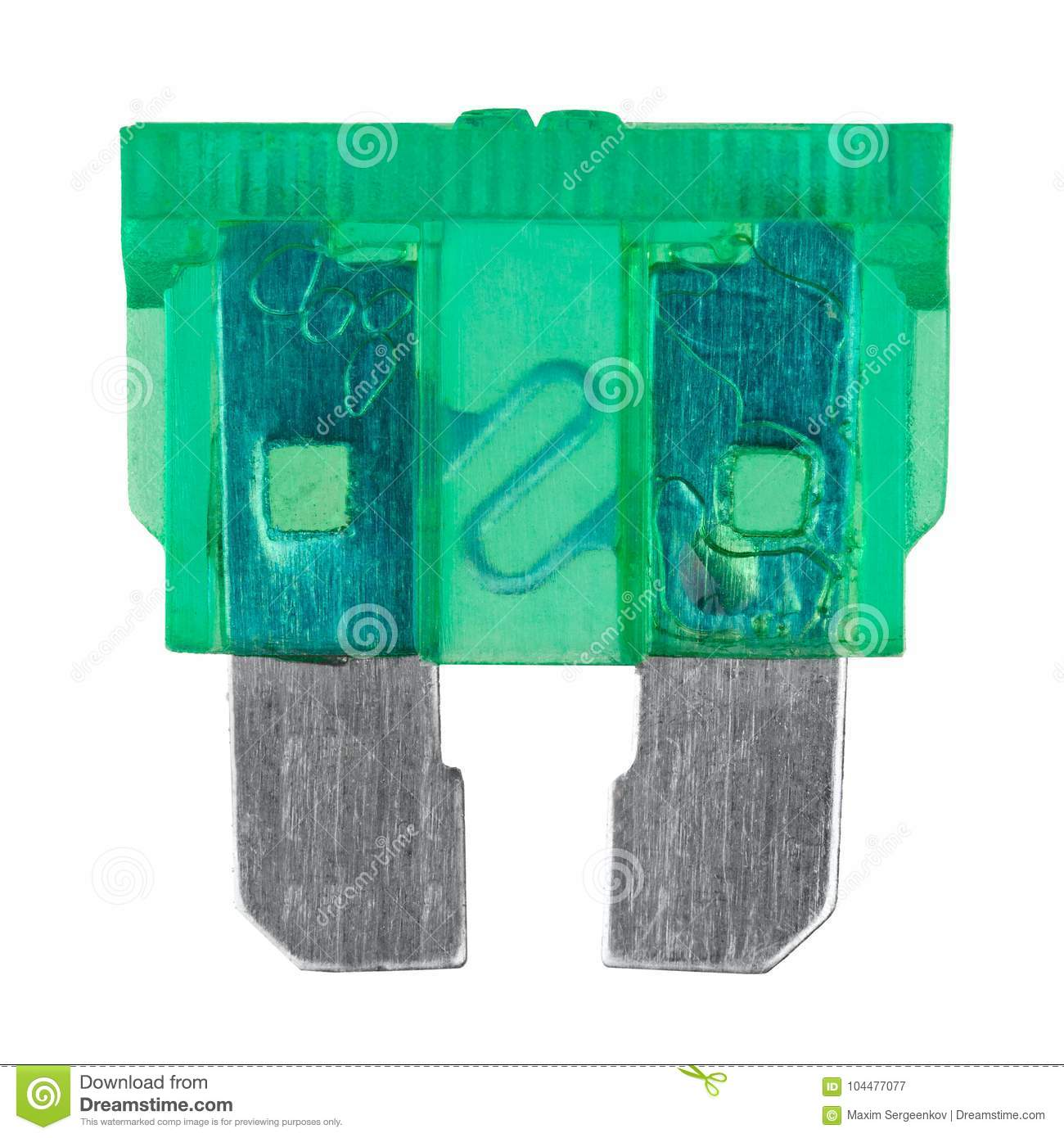 Green car fuse stock image. Image of breaker, electric - 104477077