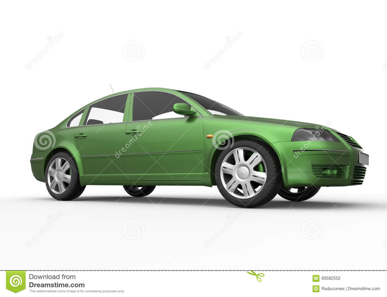 Green Car Illustration Stock Illustration Illustration Of Silver