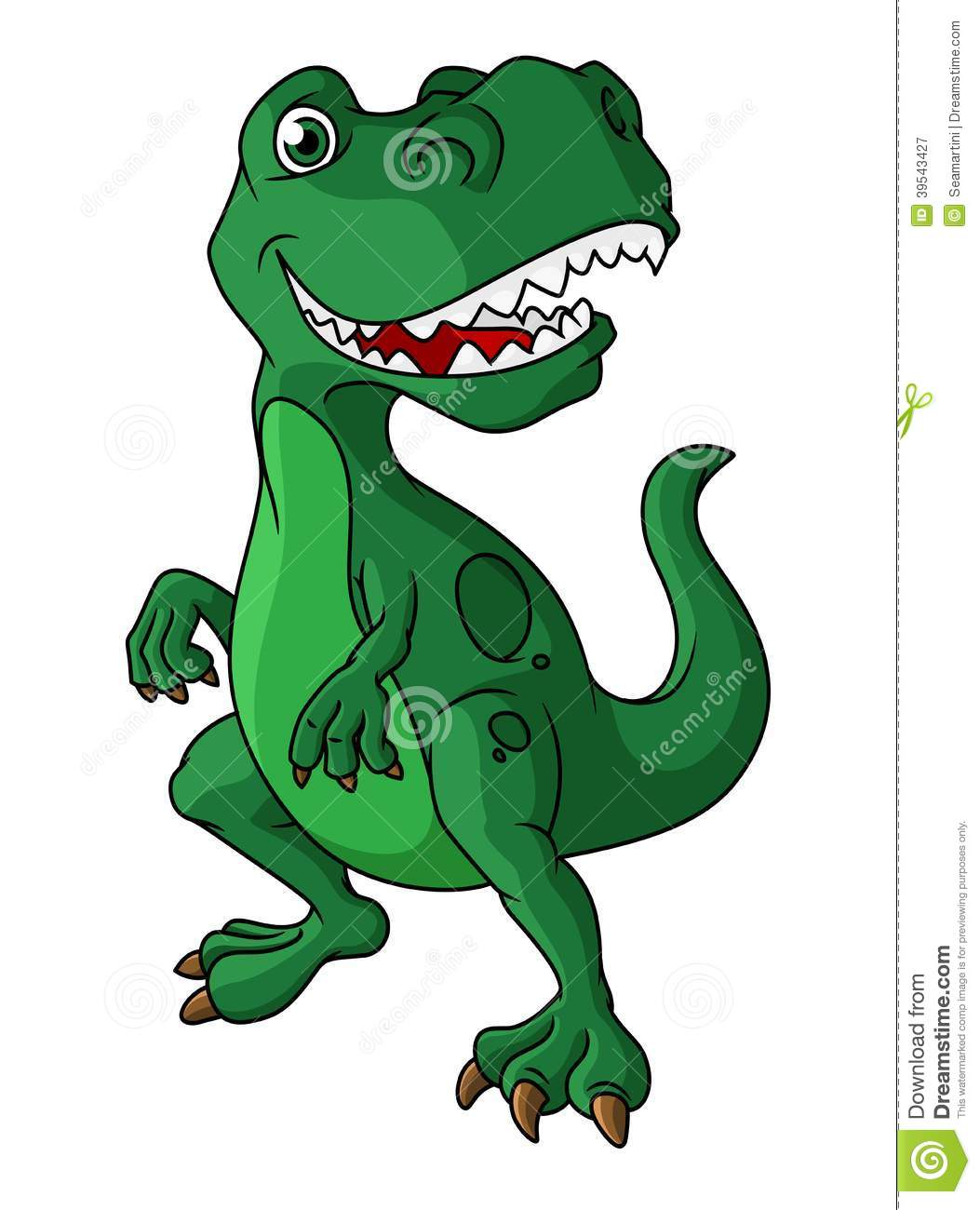 Green cartoon dinosaur with a mouth full of sharp teeth standing ...
