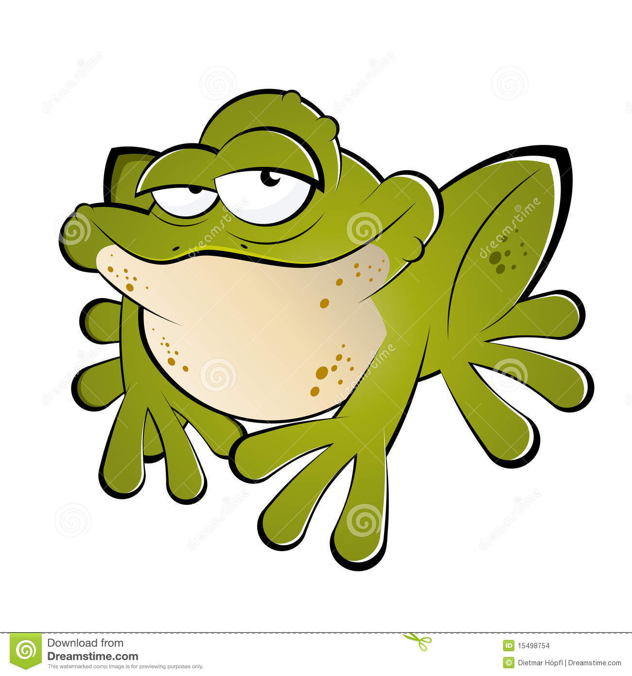 Green cartoon frog