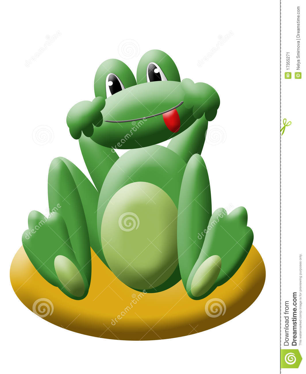 Green cartoon frog stock illustration image of - Frog cartoon wallpaper ...