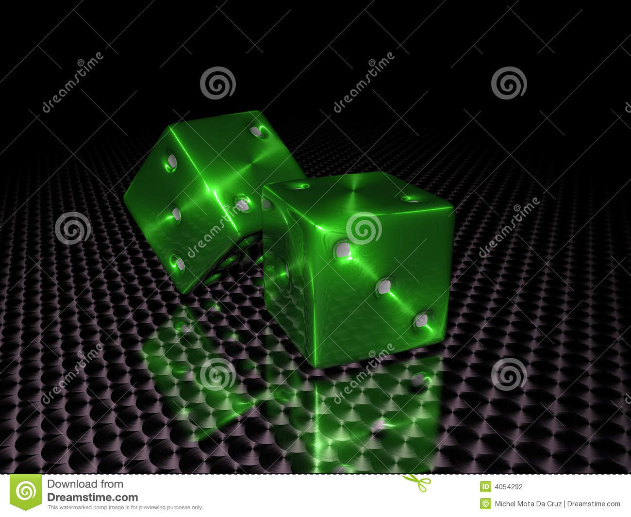 Download Green casino dice stock photo. Image of square, colorful - 4054292