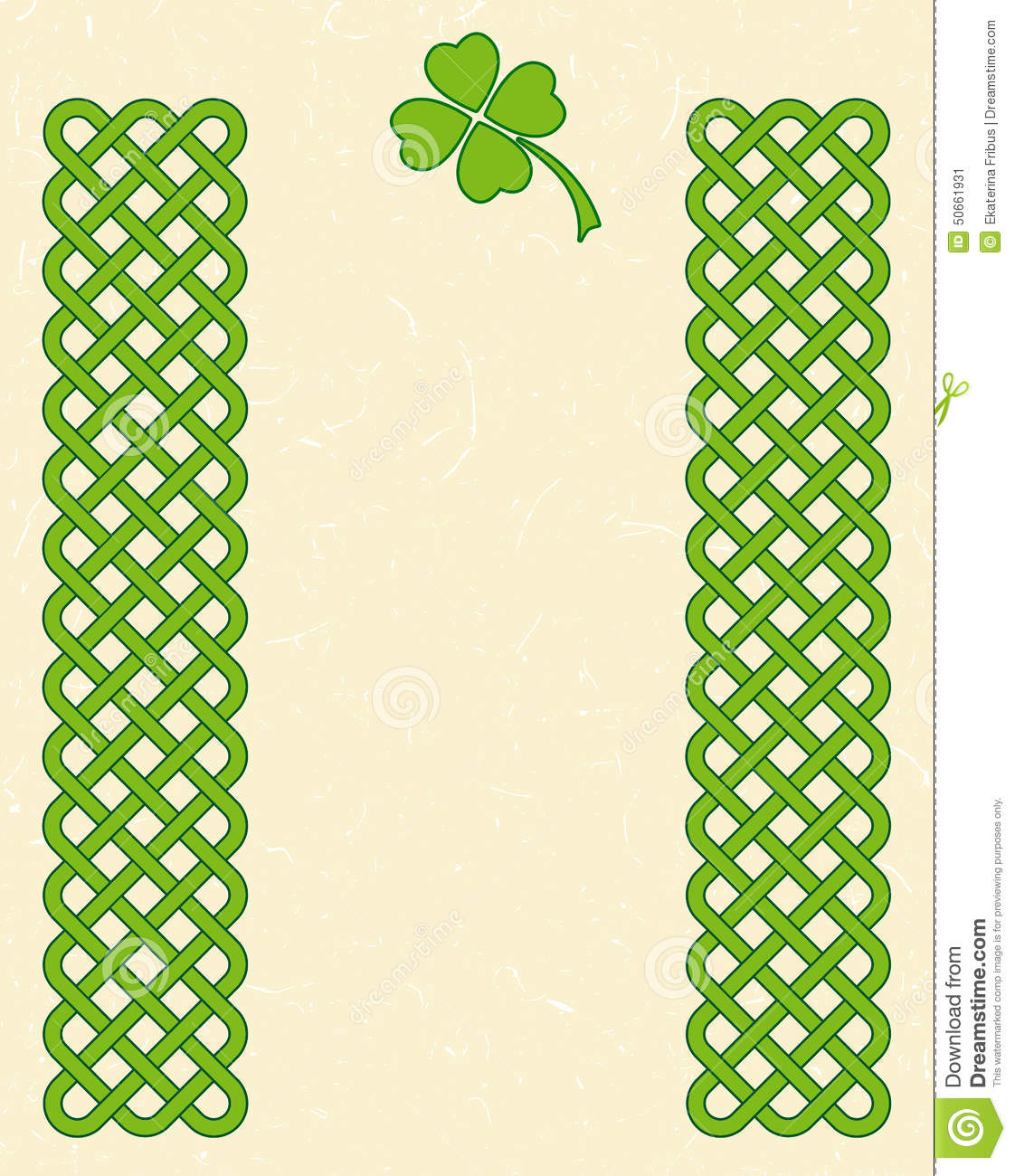Green Celtic Shamrock Frame Stock Vector - Image: 50661931