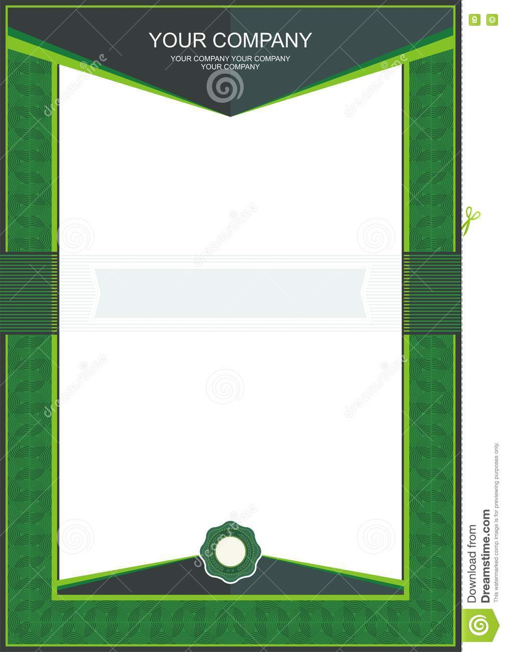 Green certificate or diploma template frame border stock vector green certificate or diploma template frame border maxwellsz