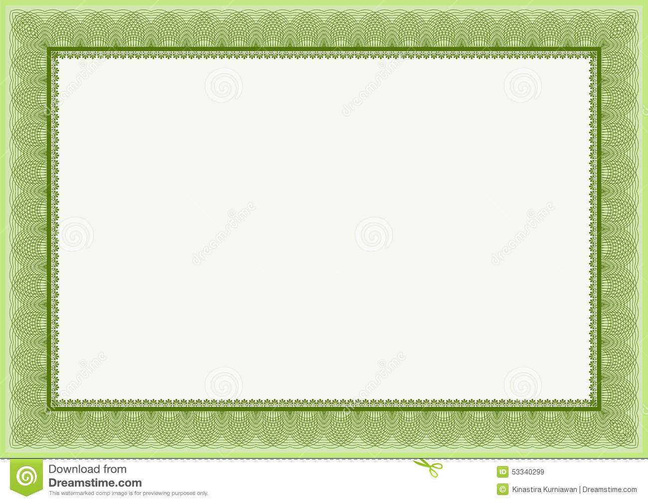 Royalty Free Stock Images: Green certificate and diploma template ...