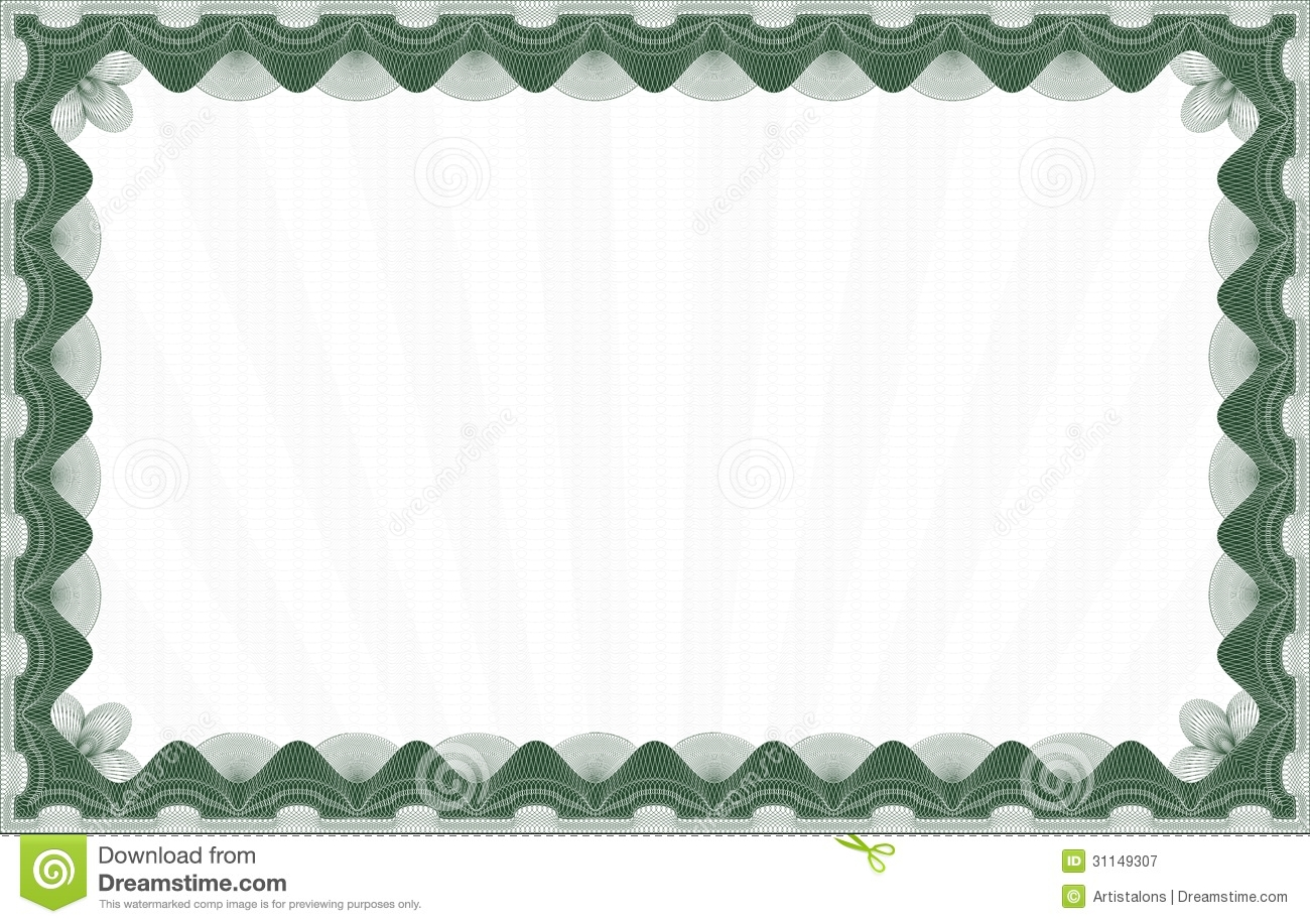 Green Certificate Template Royalty Free Photography Image – Graduation Certificate Template Free