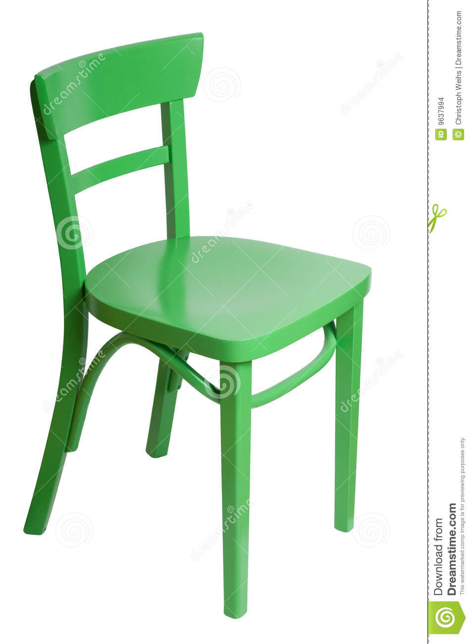 Green Chair Stock Images Image 9637994