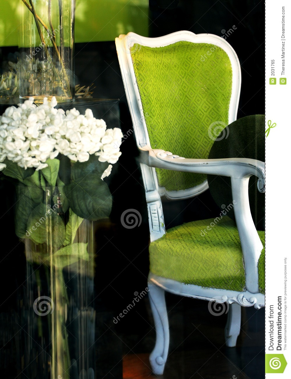 Green Chair in Store Window