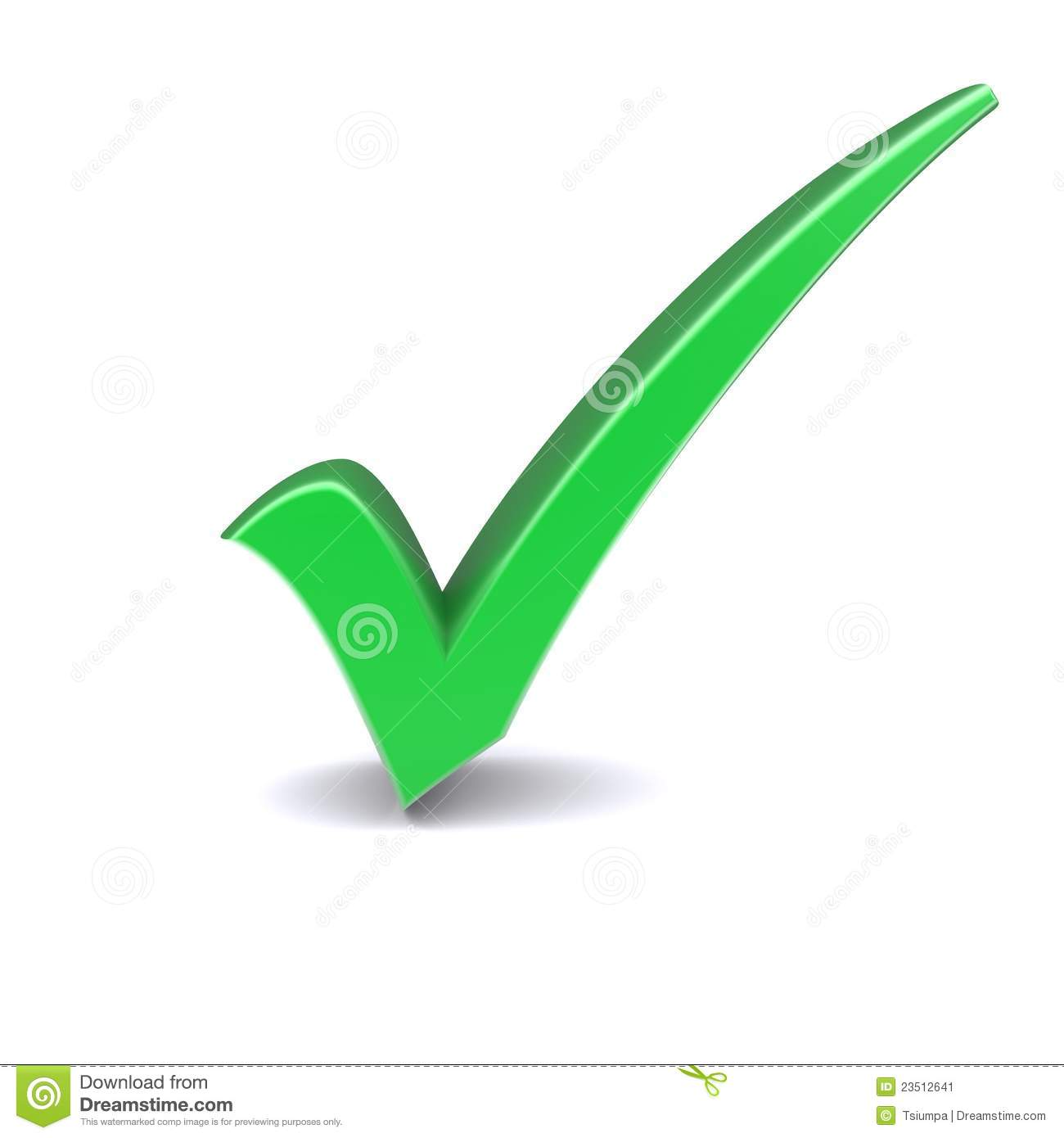 Green Check Mark Stock Image - Image: 23512641