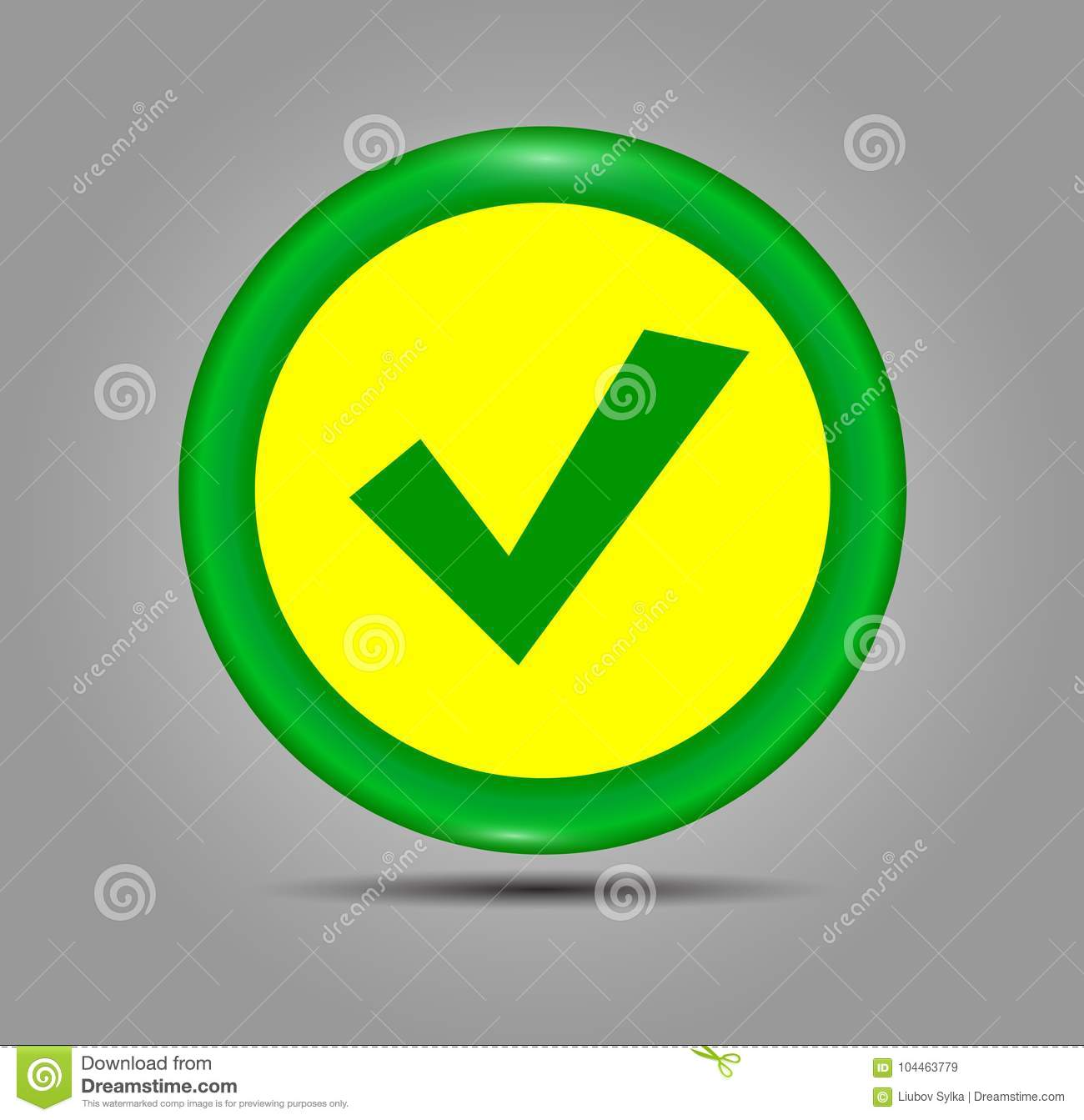 Green Check Mark Icon In A Circle. Tick Symbol In Green Color ...