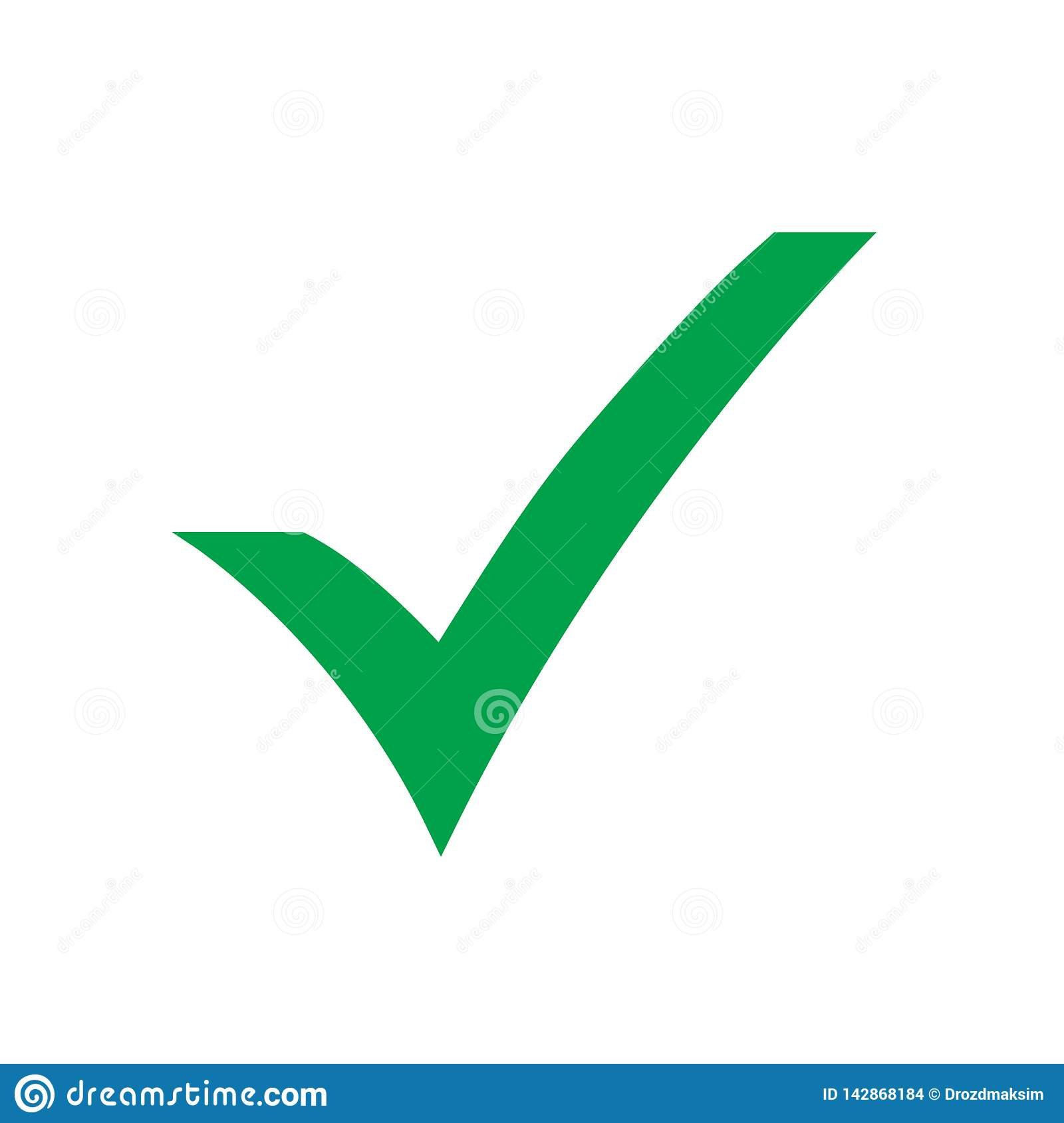 Green Check Mark Icon. Tick Symbol In Green Color, Vector ... on ✔  id=48864