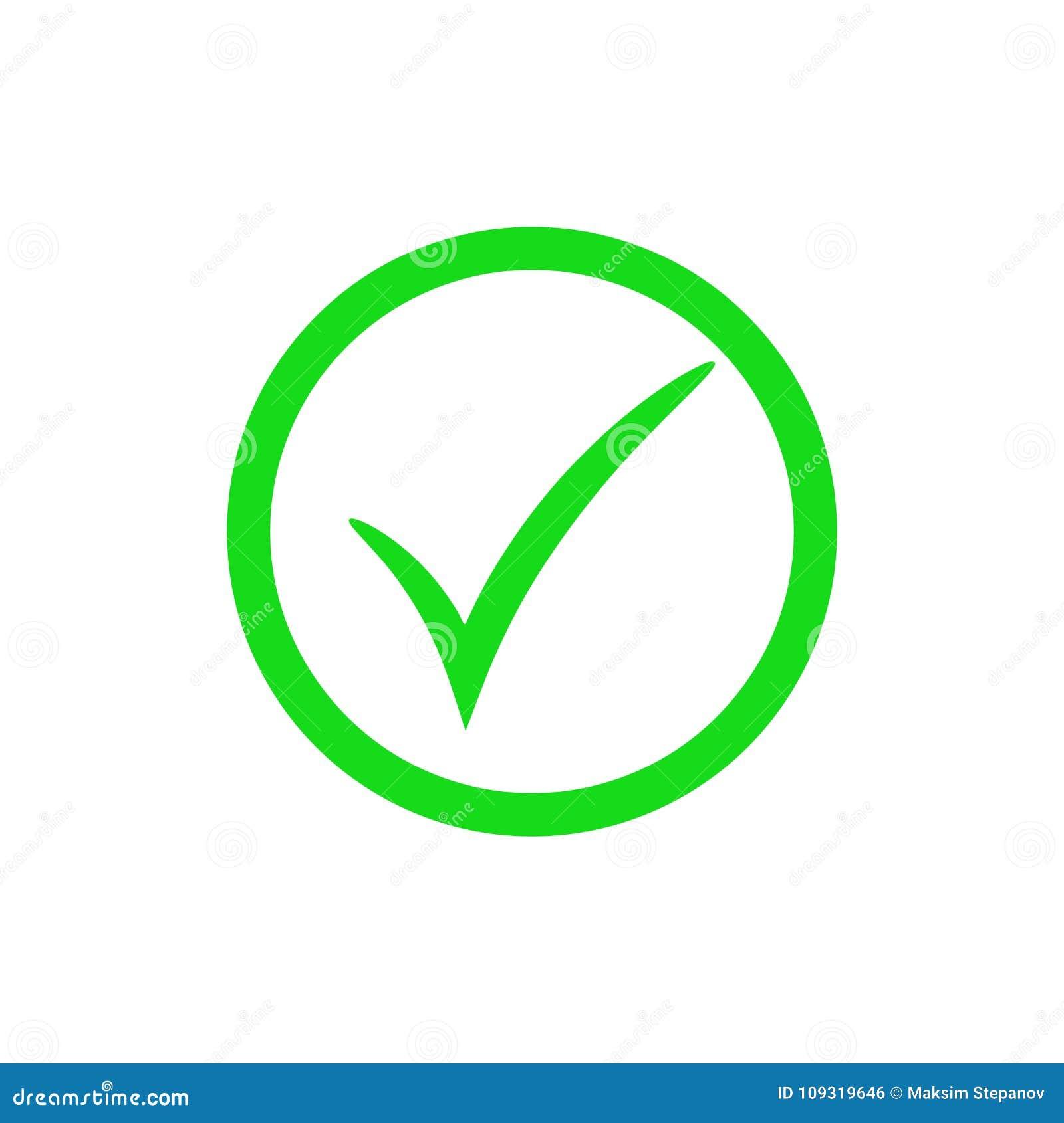 Green Check Mark Icon  Vector Checkmark Button  Tick Symbol Stock