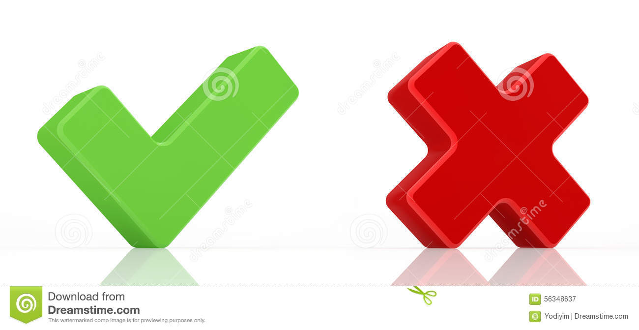 Green check mark and red x mark stock illustration illustration green check mark and red x mark buycottarizona