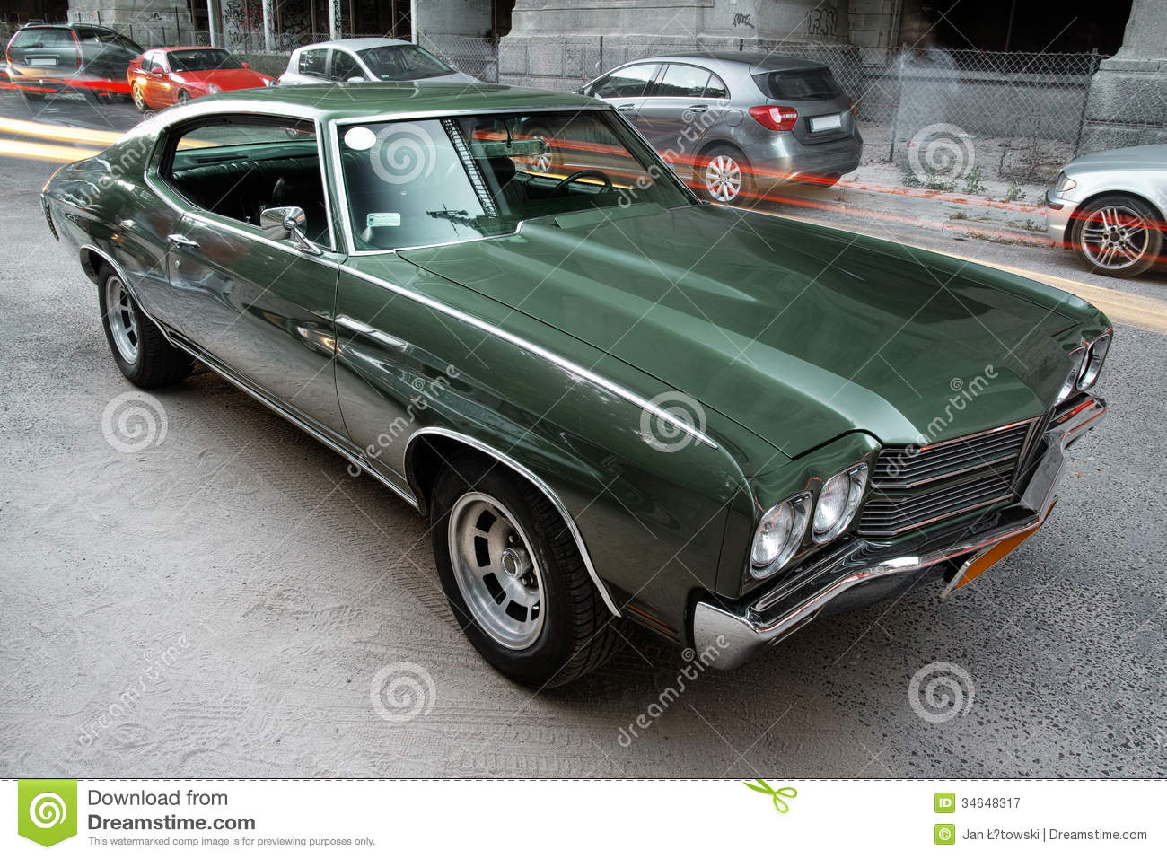 Green Chevrolet Malibu Stock Image Image Of American