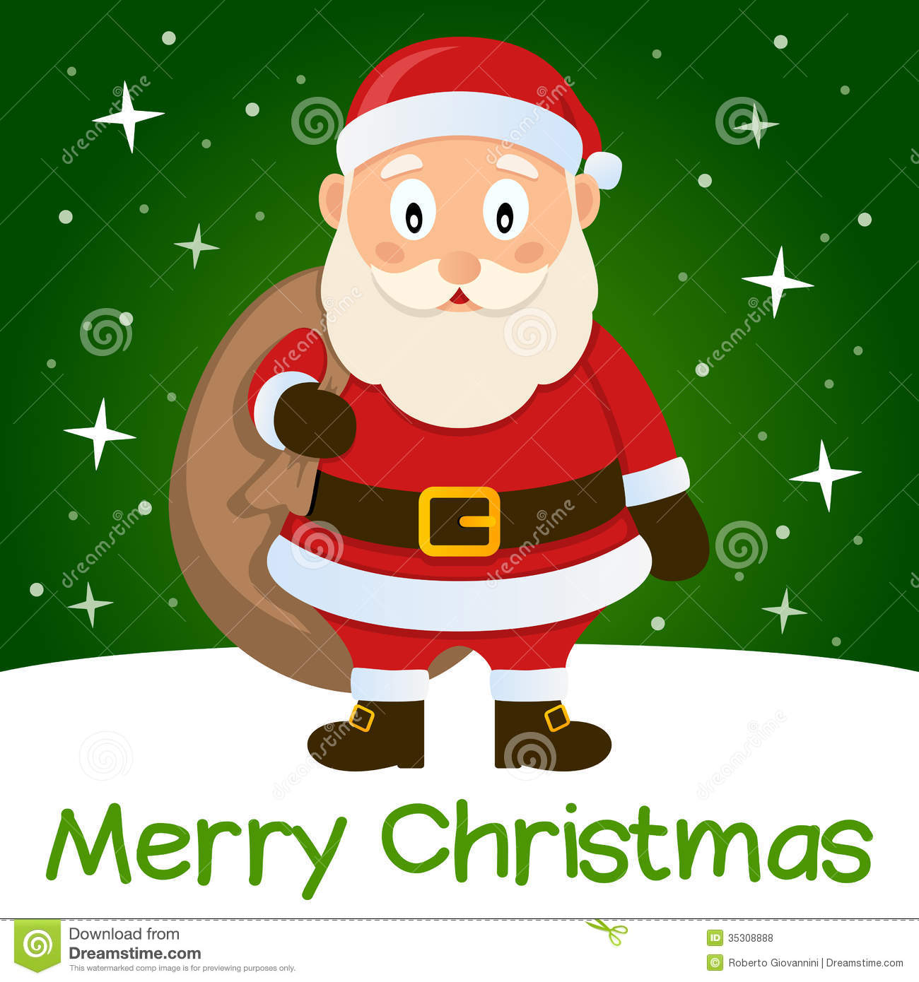 Green Christmas Card Santa Claus Royalty Free Stock Photos - Image ...