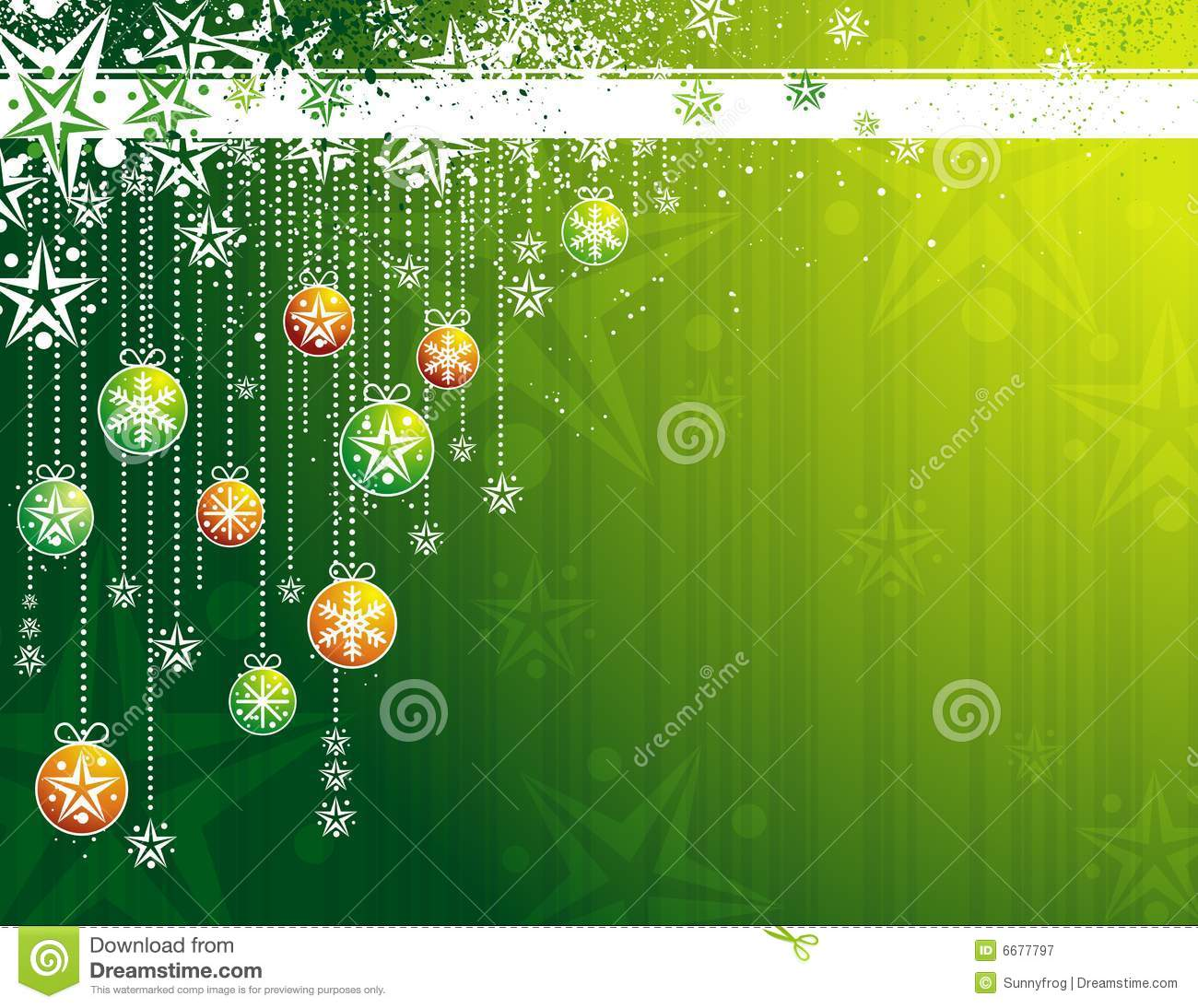 Green Christmas Card Vector Royalty Free Stock
