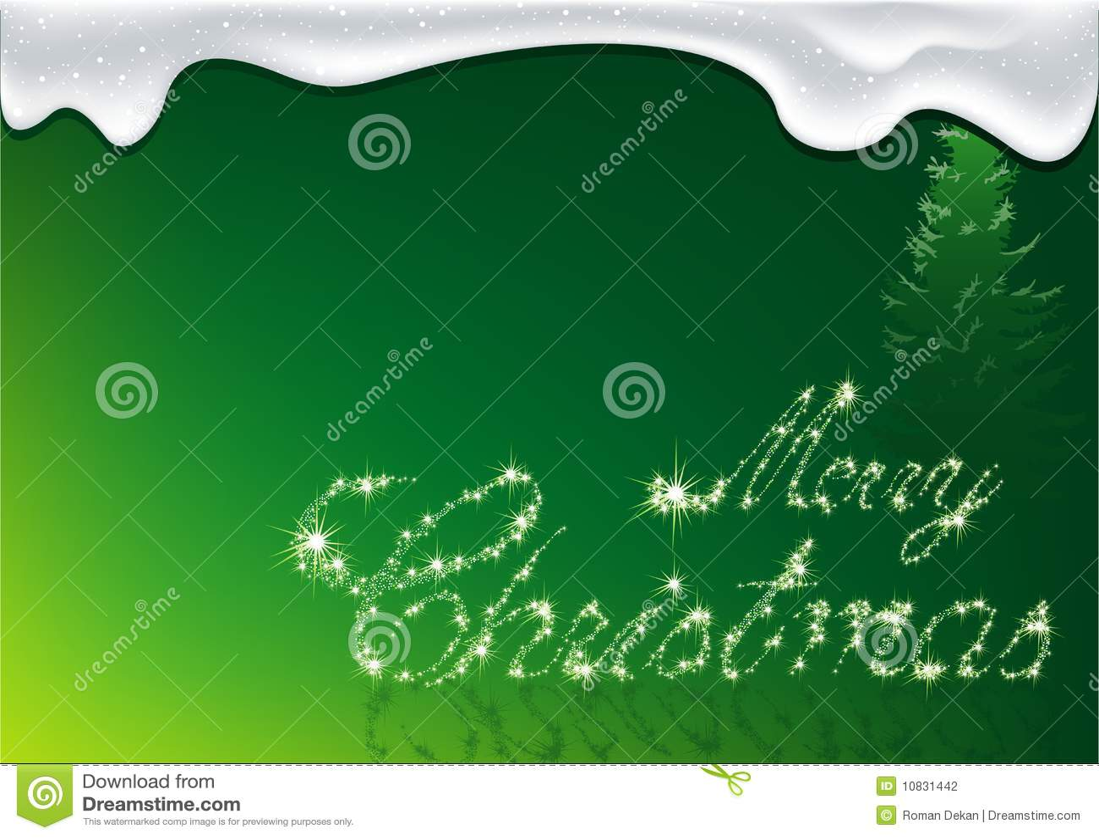 Green Christmas - Greeting Card