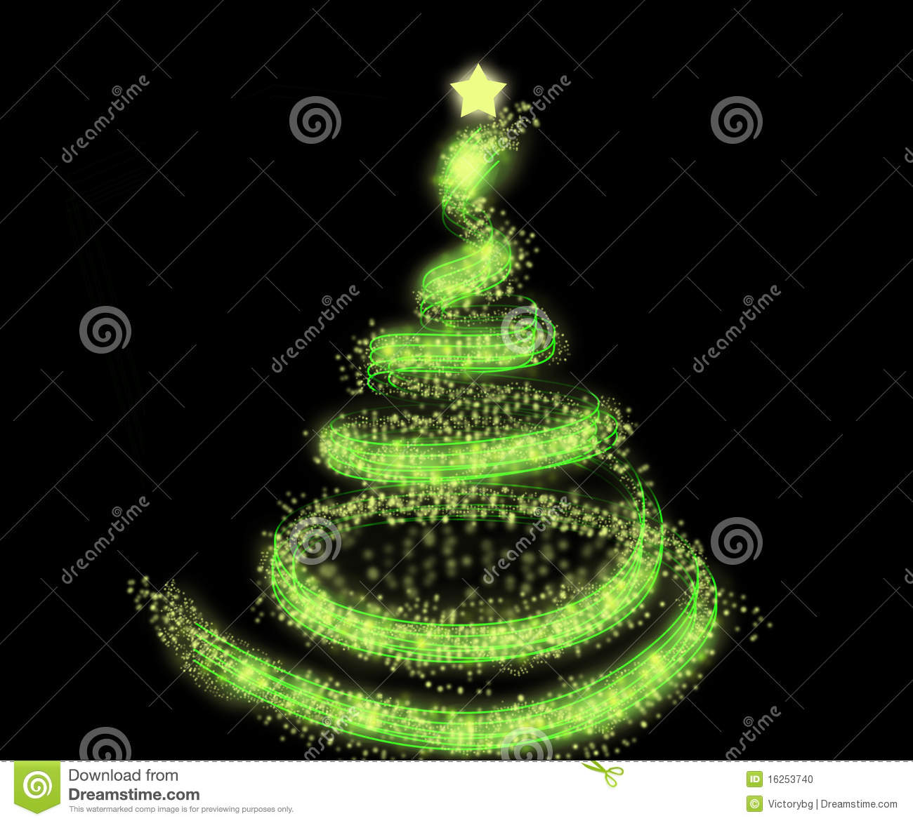 Green Christmas Tree Background Stock Photo - Image: 16253740
