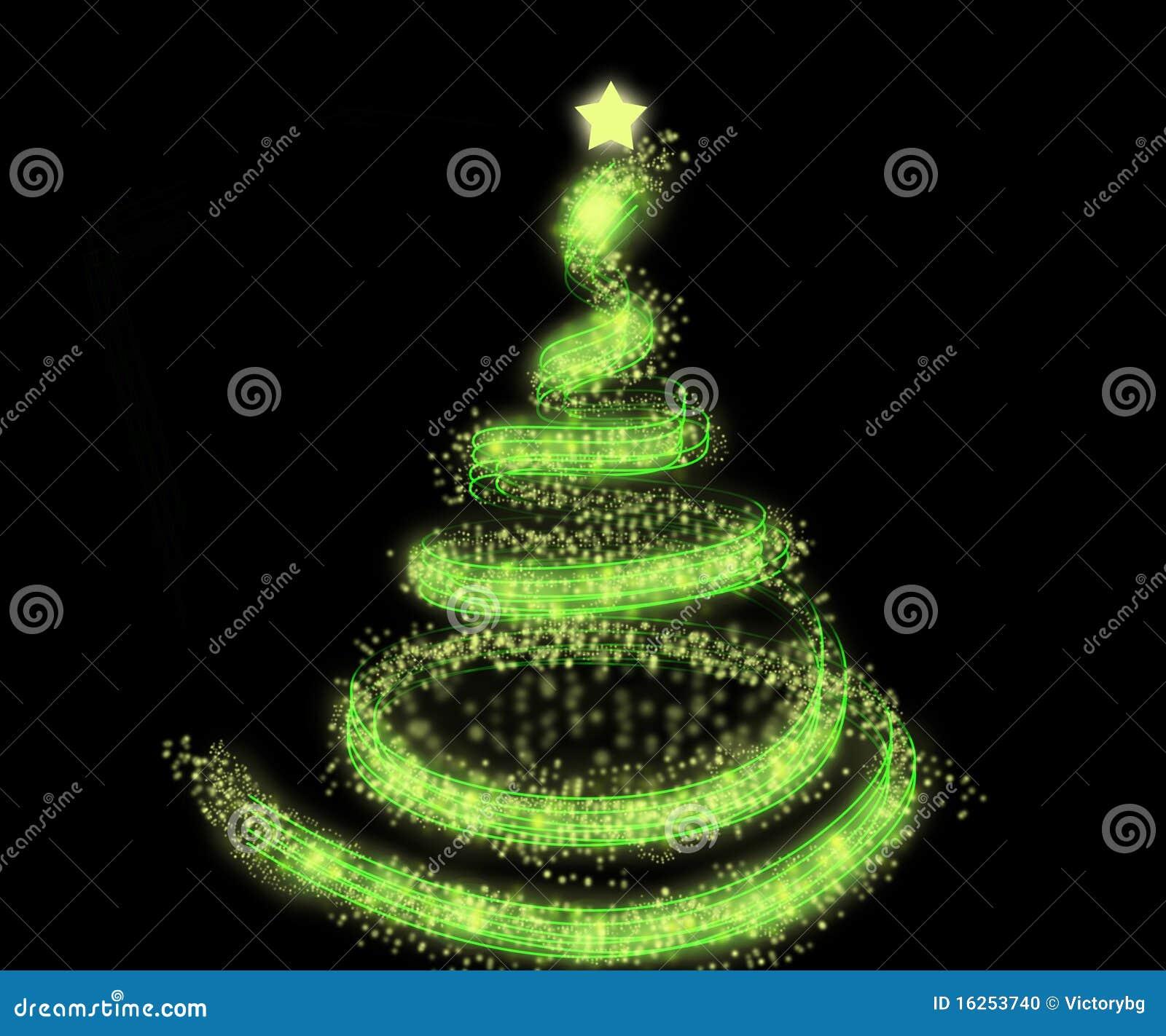 Green Christmas Tree Background Stock Photo - Image: 16253740