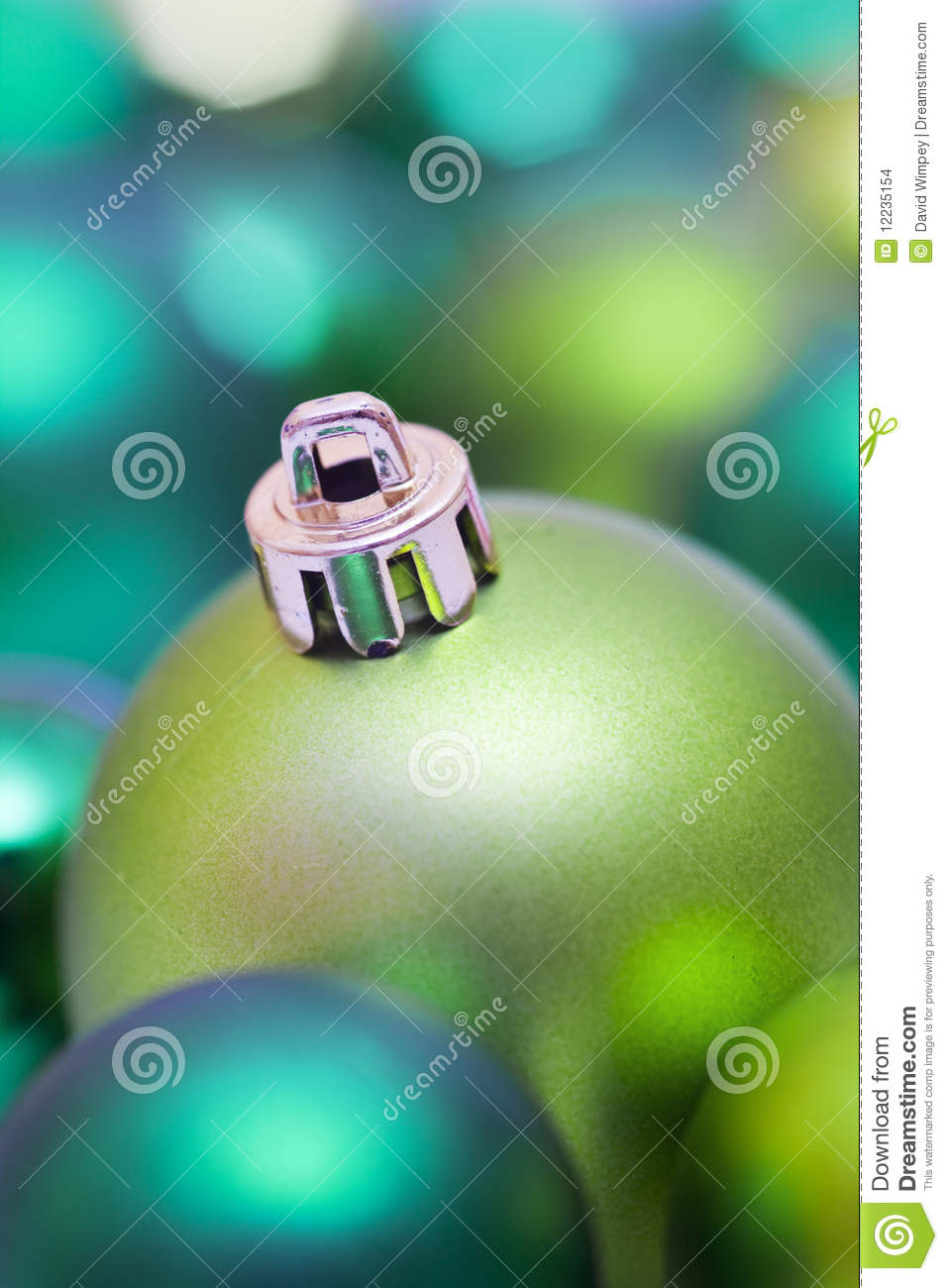 Green Christmas Tree Bauble Stock Images Image 12235154
