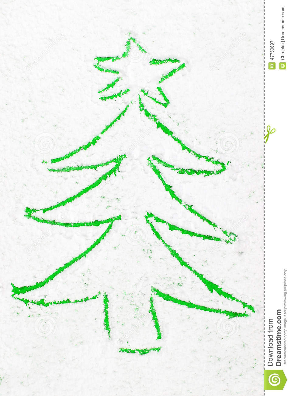 Green Tree Outline