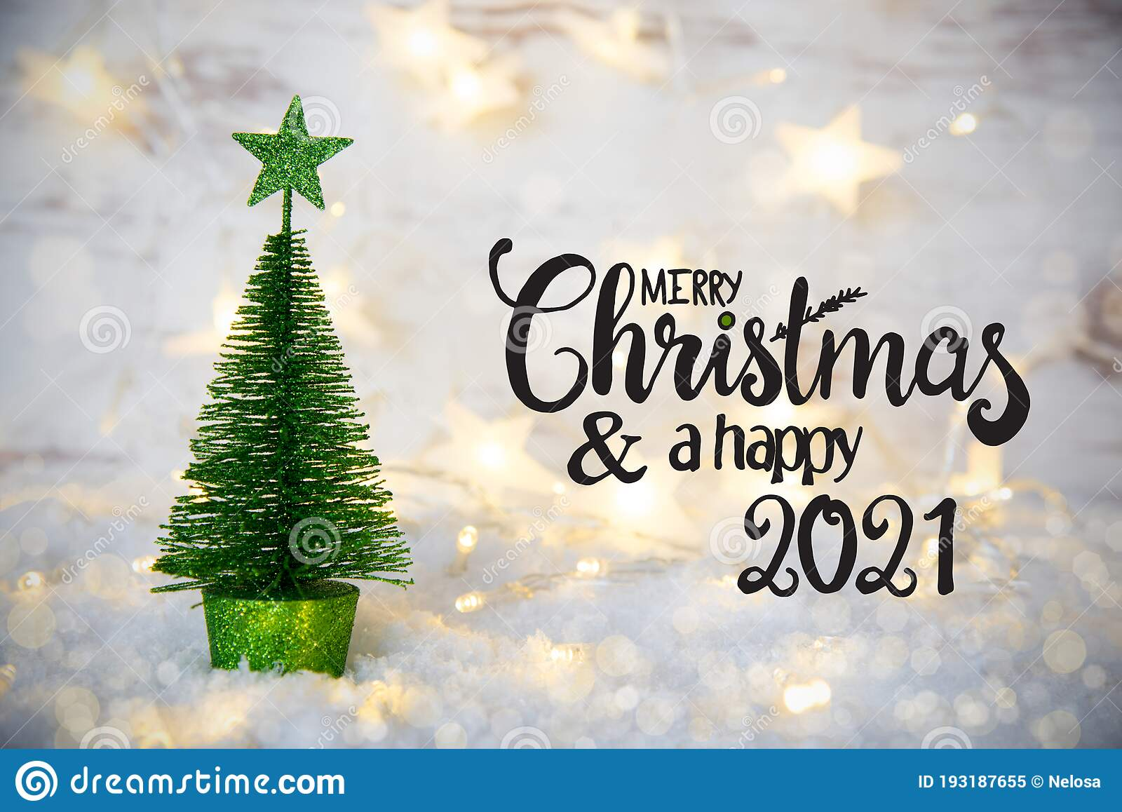 Free Christmas Pictures 2021 Green Christmas Tree Lights Star Snow Merry Christmas And A Happy 2021 Stock Image Image Of Winter White 193187655