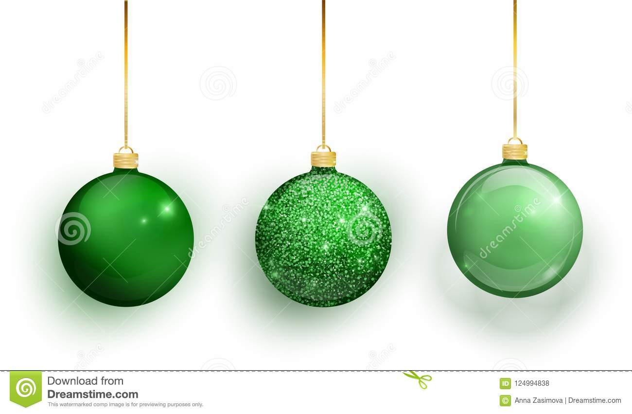 Download Green Christmas Tree Toy Set Isolated On A Transparent Background Stocking Decorations