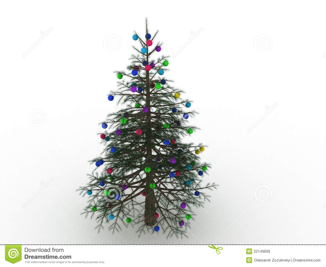 Green Christmas tree with toys 4