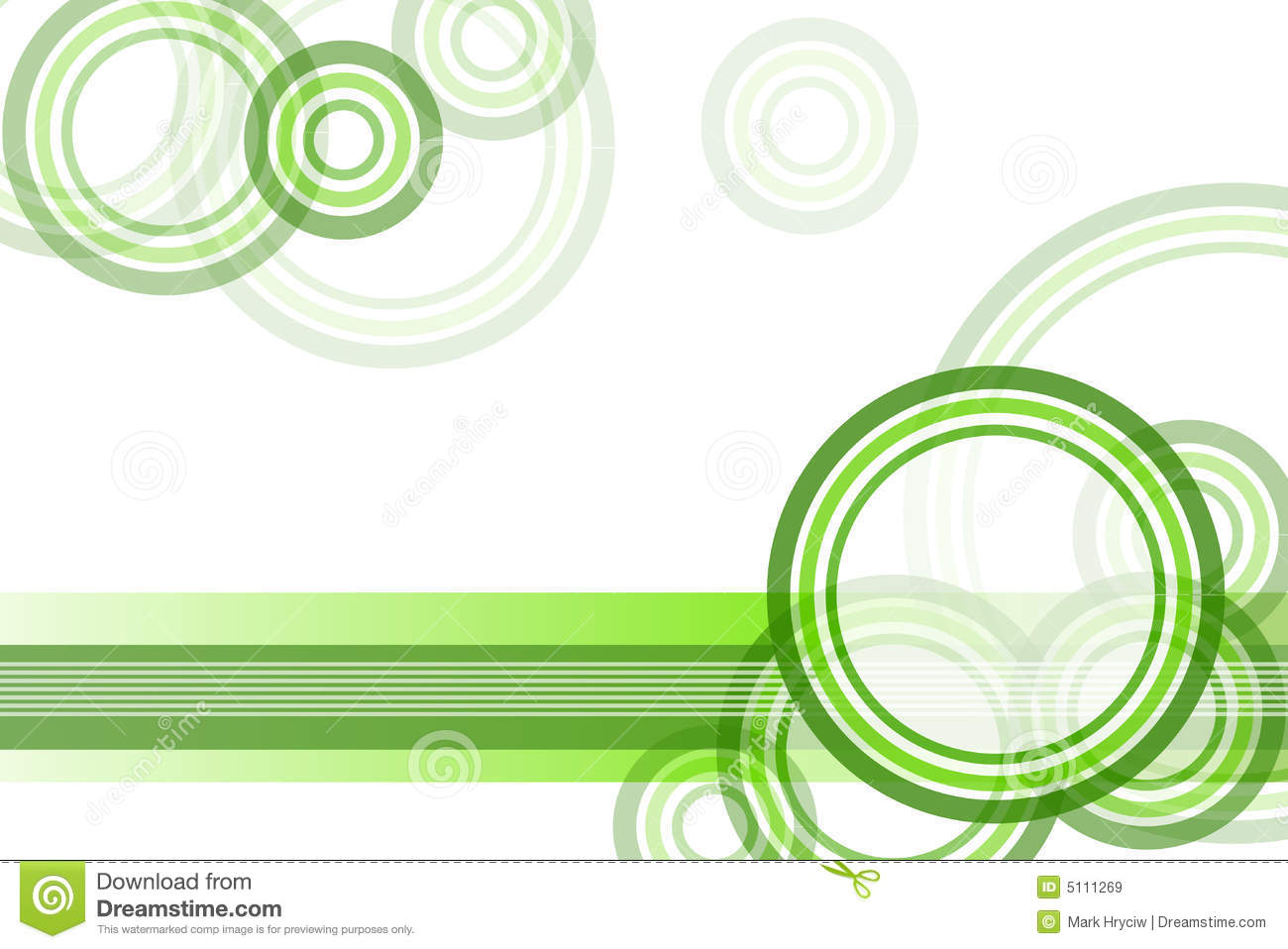 green circle border background