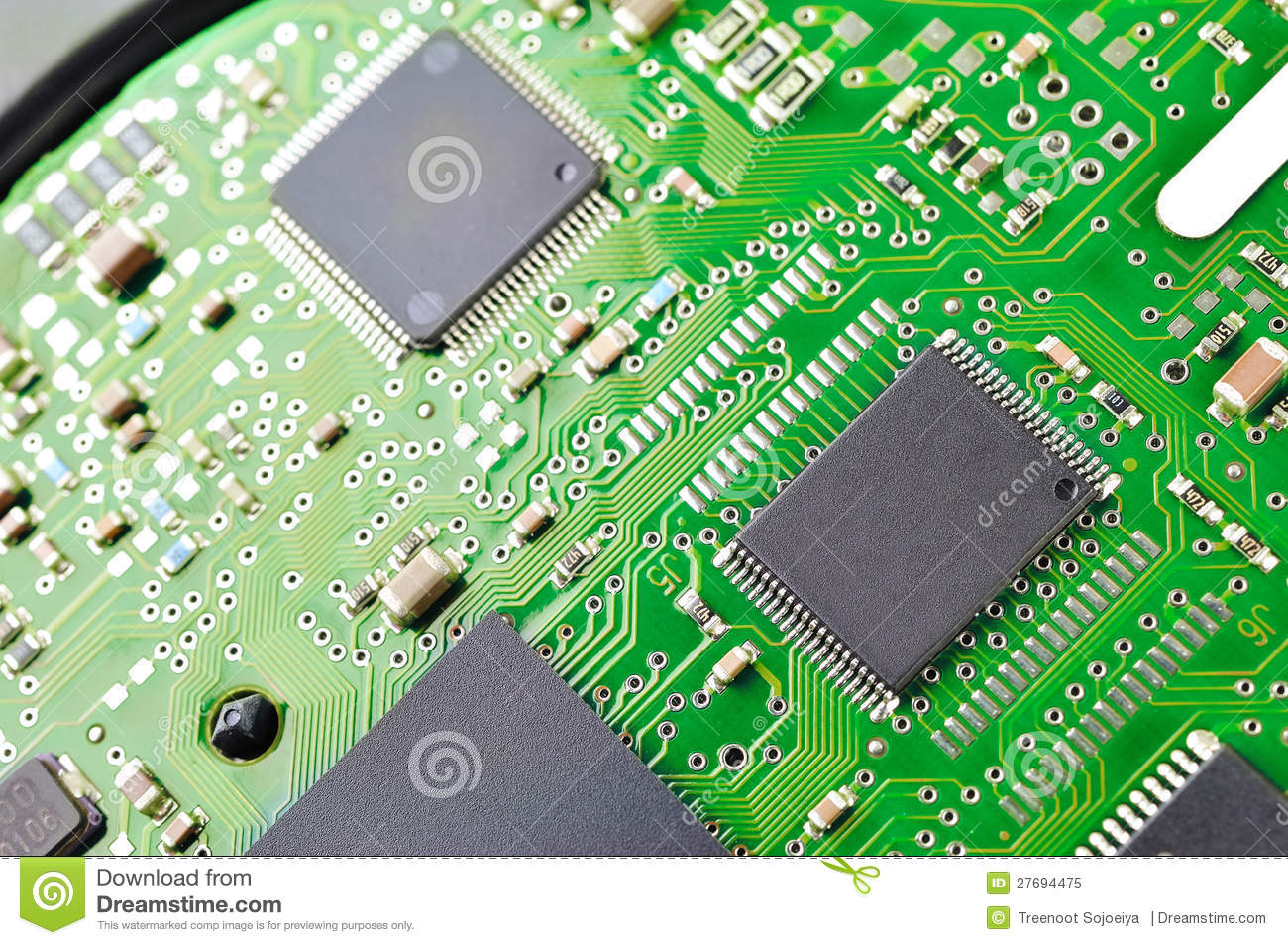 green circuit board stock image image of electrical 27694475 rh dreamstime com