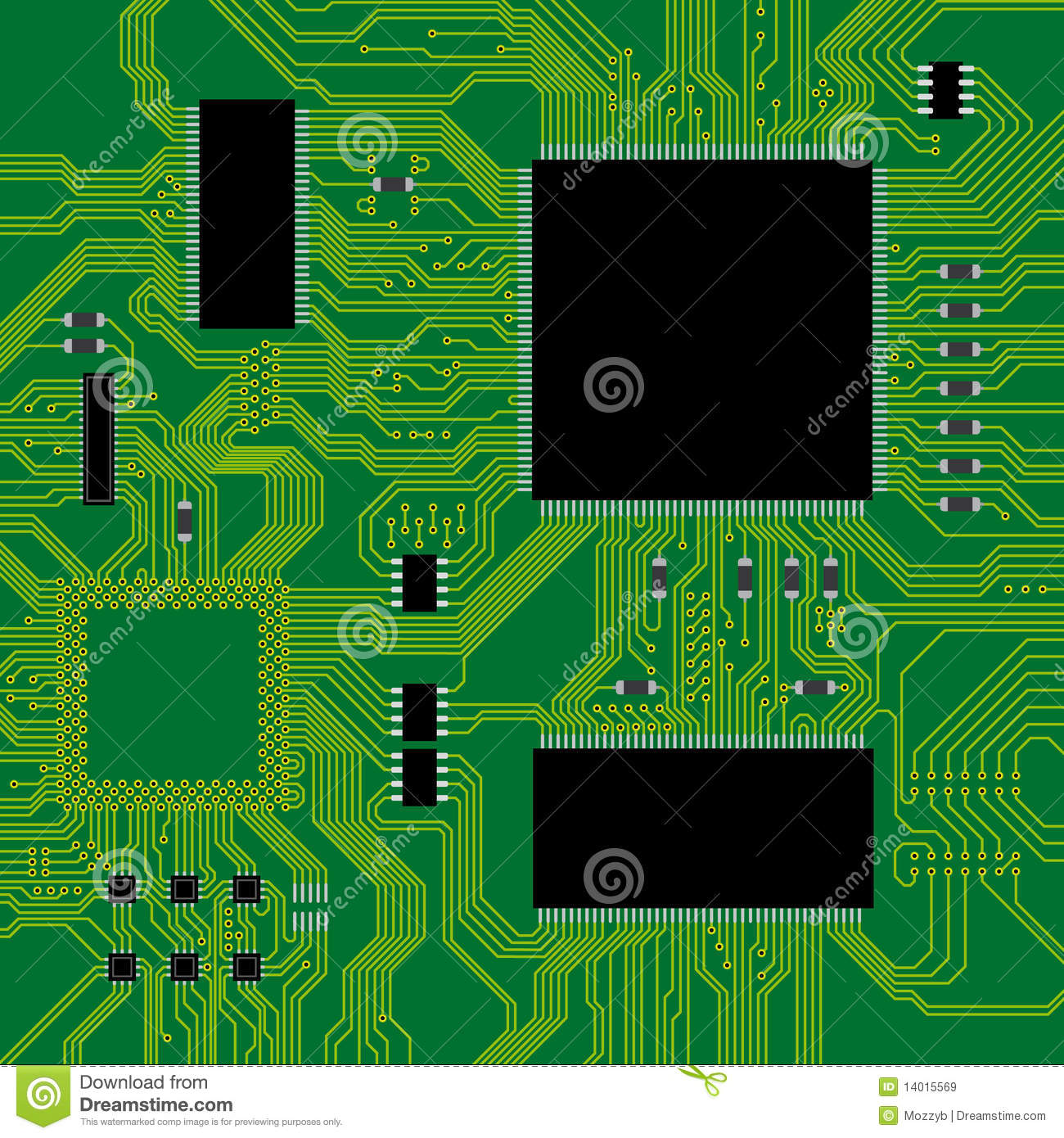 green circuit board vector illustration stock vector illustration rh dreamstime com