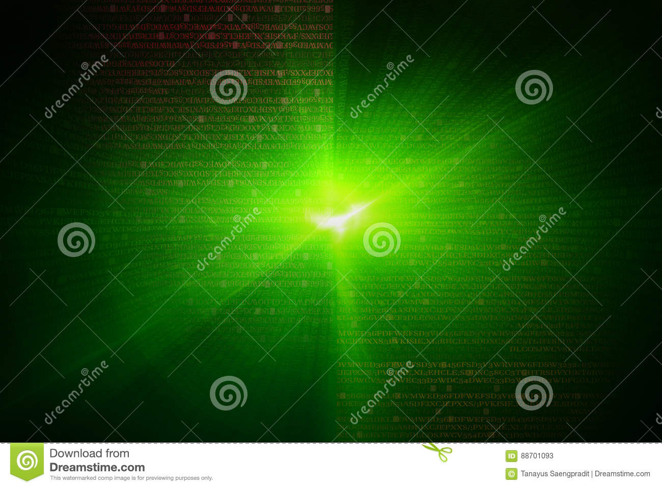 green circular glow wave scifi or game background stock