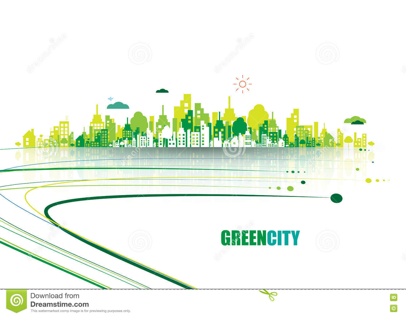Green city ecology concept save life and environment - Dental associates garden city ks ...