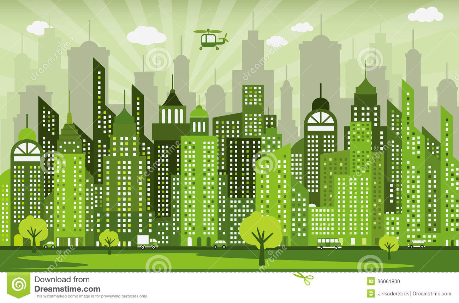 Green City Stock Photo...