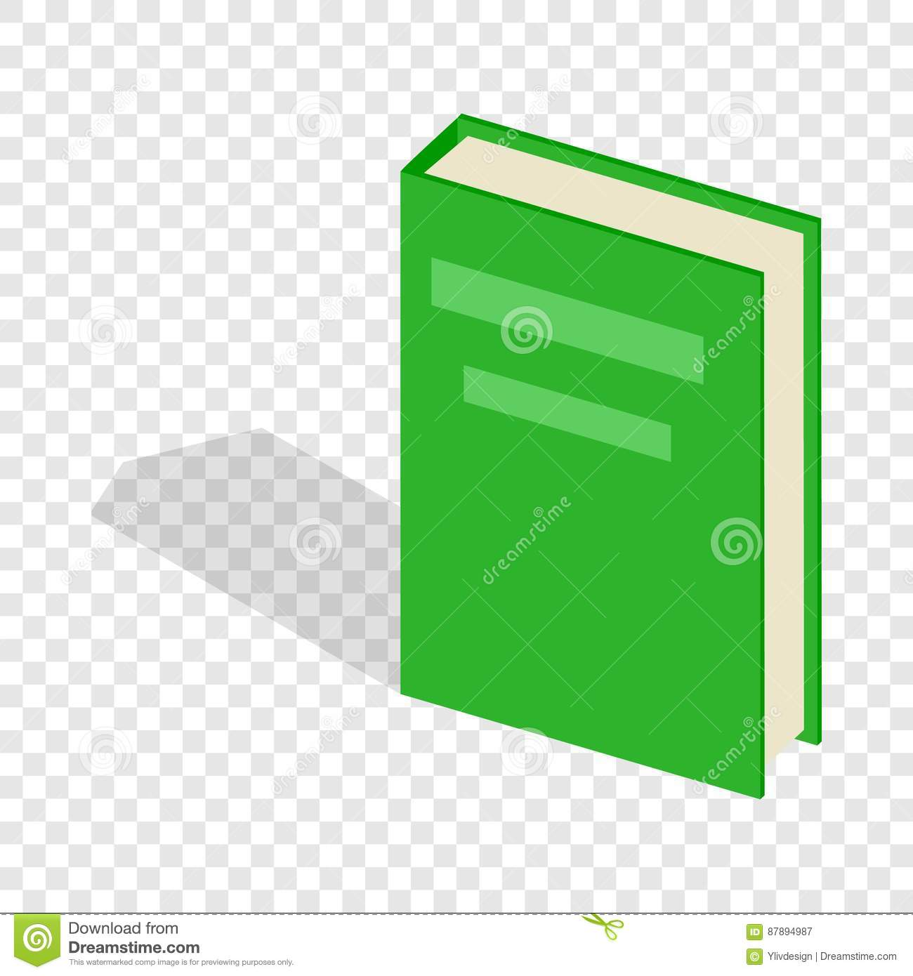 Green Book Cover Background : Green closed book isometric icon stock vector