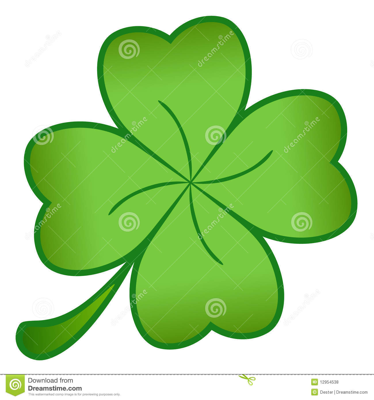 Green Cloverleaf Royalty Free Stock Photos - Image: 12954538