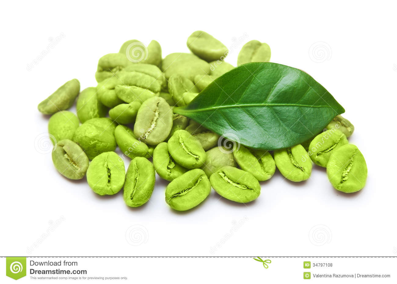 Green Coffee Beans Stock Photo Image Of Roasted Diet 34797108