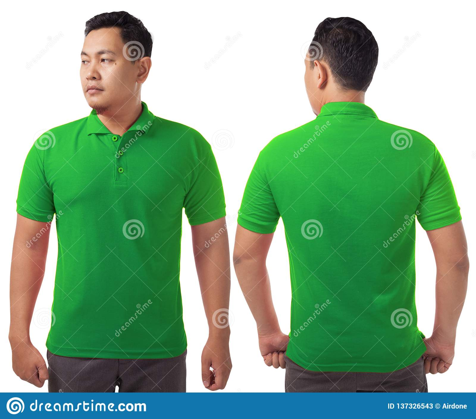 Green Collared Shirt T Shirts Design Concept