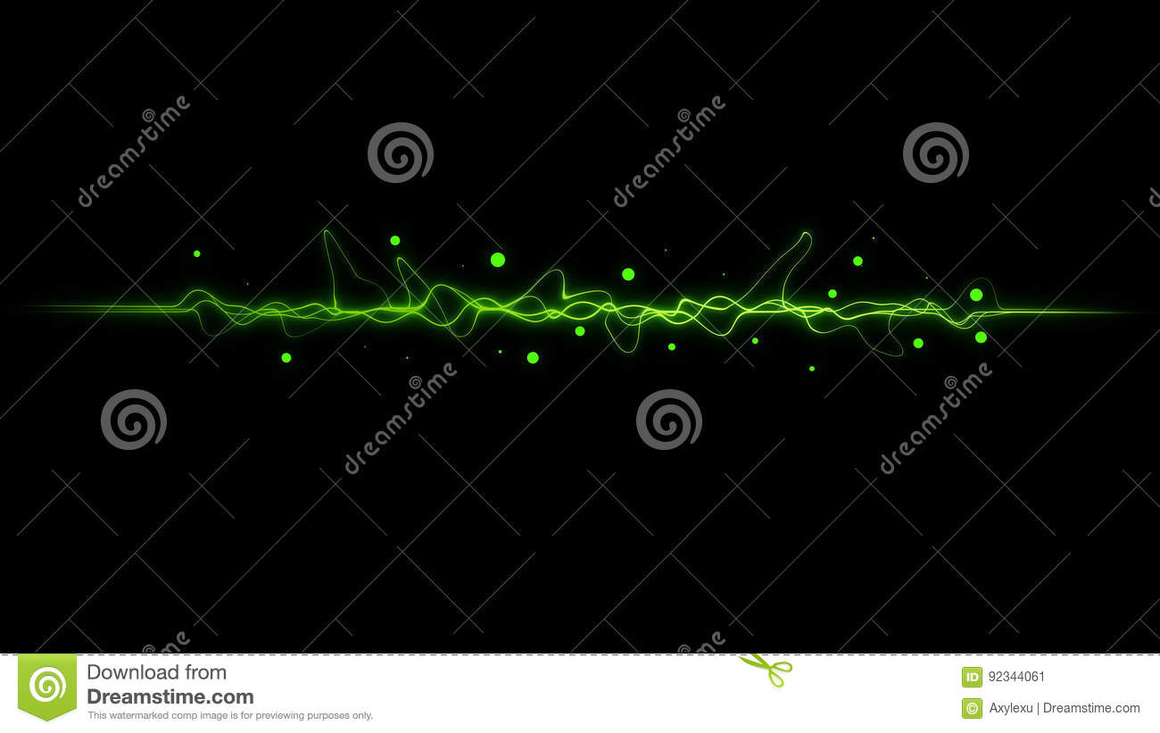 Green  color dynamic lines modern abstract