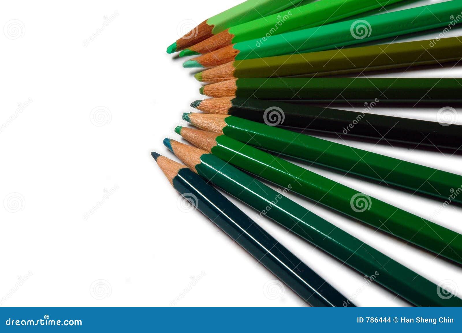 Green Colour Pencils