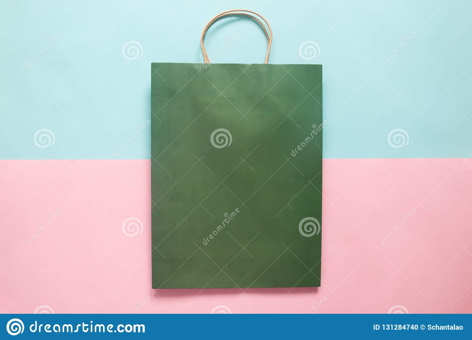 green colour shopping bag mockup for branding and corporate iden